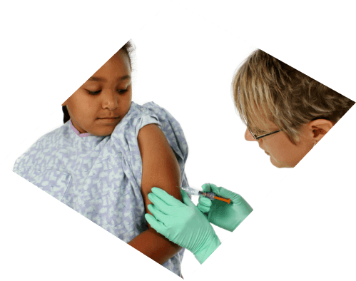 A Nurse Injecting a Kid